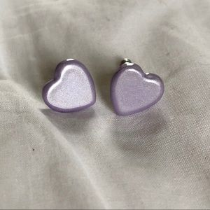 Heart stud earrings💜
